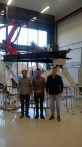 The first researchers in SFI Offshore Mechatronics have started, From left to right: Torstein Myhre (Post.Doc, NTNU), Geir Ole Tysse (PhD, NTNU) and Sondre Sanden Tørdal (PhD, UiA).